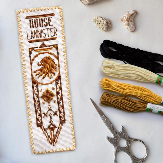 Game of Thrones Cross Stitch KitHouse Targaryen DIY Hand Embroidery Bookmark with GoT Dragonstone Design Pattern