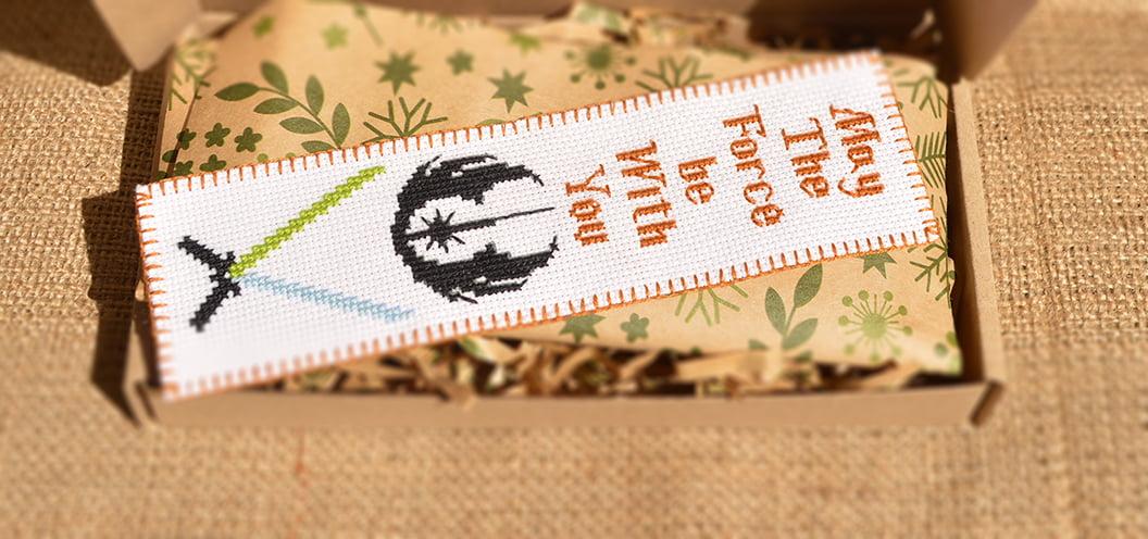 DIY cross stitch bookmark